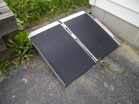 4' Long Folding Wheelchair Ramp - Dambach Ramps - aluminum ramps for all equipment
