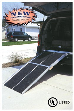 PVI 7 Foot Long, 30 Inch Wide, Multifold SUV Ramp - Dambach Ramps - aluminum ramps for all equipment