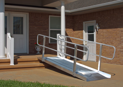 4' Long Non-Folding Grooved Aluminum OnTrac Ramp
