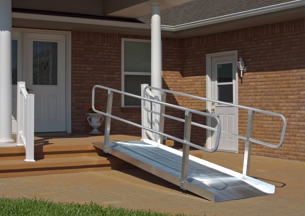 8' Non-Folding Grooved Aluminum OnTrac Ramp