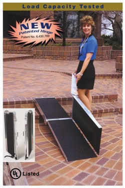 PVI 8 Foot Long, 30 Inch Wide, Multifold Ramp - Dambach Ramps - aluminum ramps for all equipment