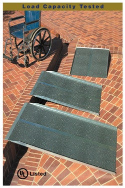 4' Long Solid Wheelchair Ramp - Dambach Ramps - aluminum ramps for all equipment
