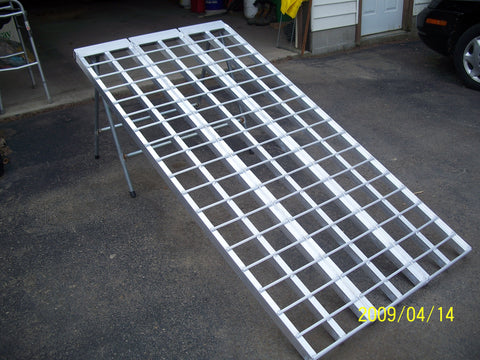 "7' long x 60"" wide Motorcycle Ramp - 2000# cap."