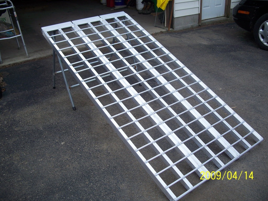 "8' long x 60"" wide Zero Turn and Trike Ramp - 1500# cap. - Dambach Ramps - aluminum ramps for all equipment"