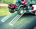 "8'  Long x 16"" Wide, 1500 Pound Capacity Folding Ramps - Dambach Ramps - aluminum ramps for all equipment"
