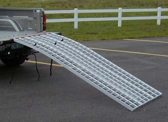 Locking Motorcycle Ramps - Dambach Ramps - aluminum ramps for all equipment
