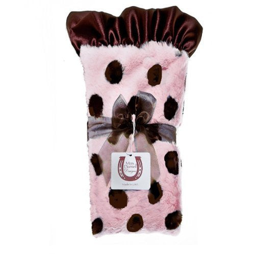 Max Daniel Plush Dots Security Blanket  (Choco-Pink Dots)