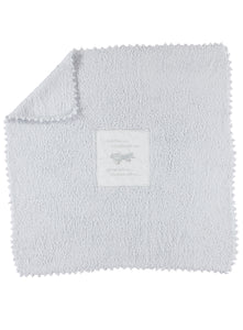 Barefoot Dreams 501 CozyChic Receiving Blanket (Blue-Plane)