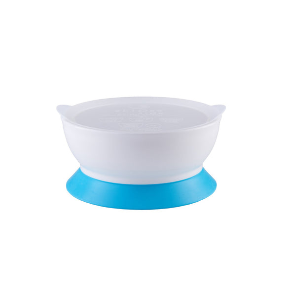 eLIPse Kids Stage 2 Suction Bowl Set With Lid (12oz) - Blue