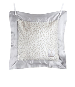 Little Giraffe Luxe Snow Leopard Pillow