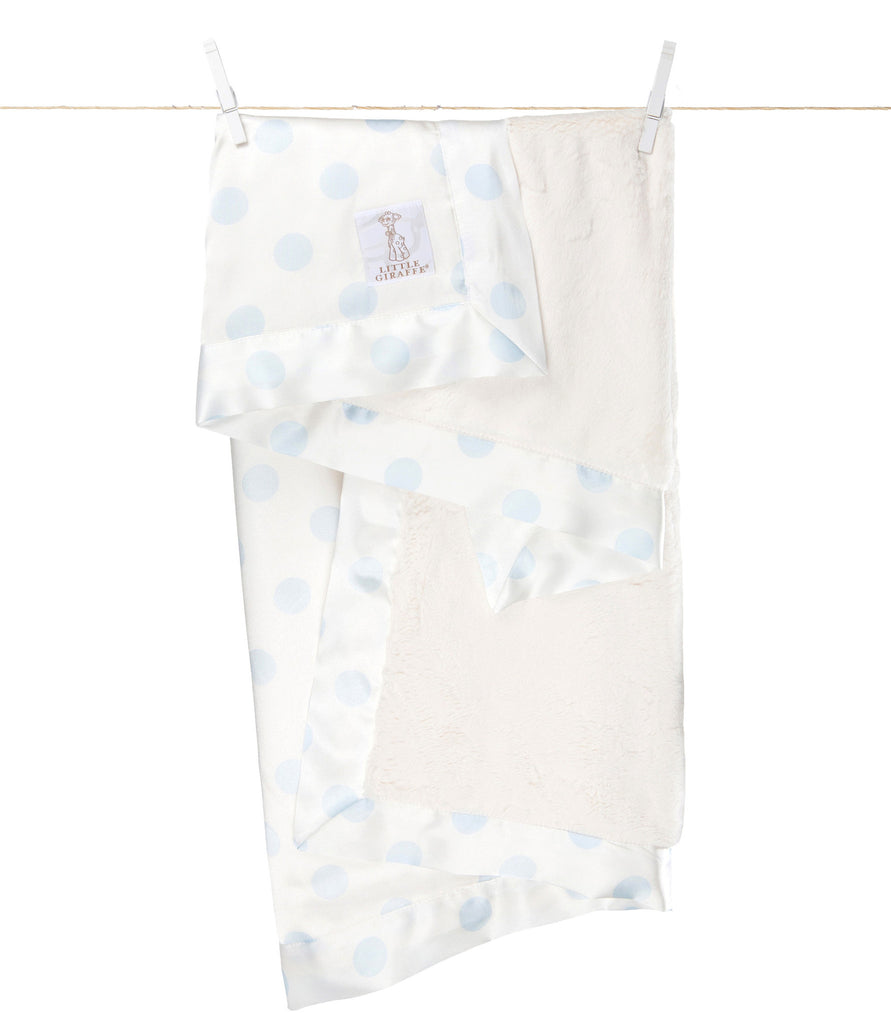 Little Giraffe Luxe Cream Dot Baby Blanket