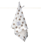 Little Giraffe Luxe Cream Dot Blanky