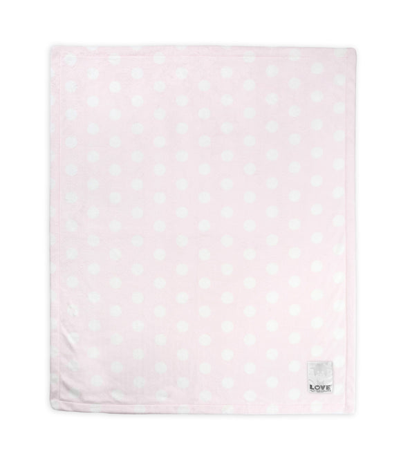LOVE by Little Giraffe Silky Dot Baby Blanket