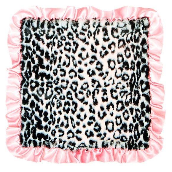 Max Daniel Animal Prints Security Blanket (BW Pink Ruffle Jaguar)