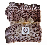 Max Daniel Animal Prints Baby Throw (Grey Jaguar)