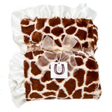 Max Daniel Animal Prints Baby Throw (Ivory Giraffe)