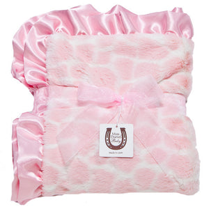 Max Daniel Animal Prints Baby Throw (Pink Giraffe)