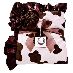Max Daniel Animal Prints Baby Throw (Pink Pony)