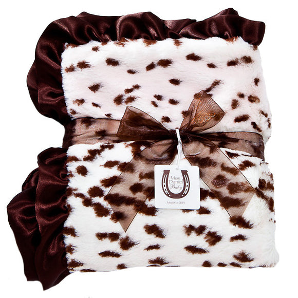 Max Daniel Animal Prints Baby Throw (Pink Snow Leopard )