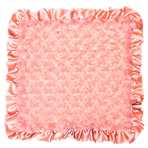Max Daniel Rosebuds and Satin Security Blanket (Coral)
