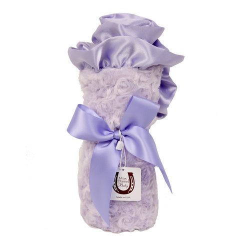 Max Daniel Rosebuds and Satin Baby Throw (Lavender)