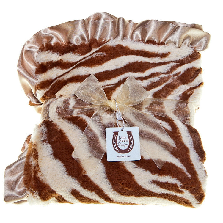 Max Daniel Animal Prints Baby Throw (Tan Zebra)