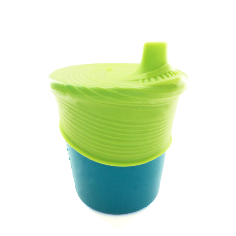 Gosili Silikids Storm Silicone Sippy Cup with Lime Top (Teal)