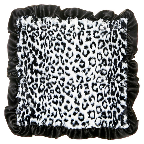 Max Daniel Animal Prints Security Blanket (BW Black Ruffle Jaguar)