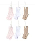 Little Giraffe Box of Socks Silky Solid Assorted - 6 Pairs Of Socks