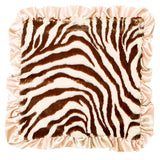Max Daniel Animal Prints Security Blanket (Tan Zebra)