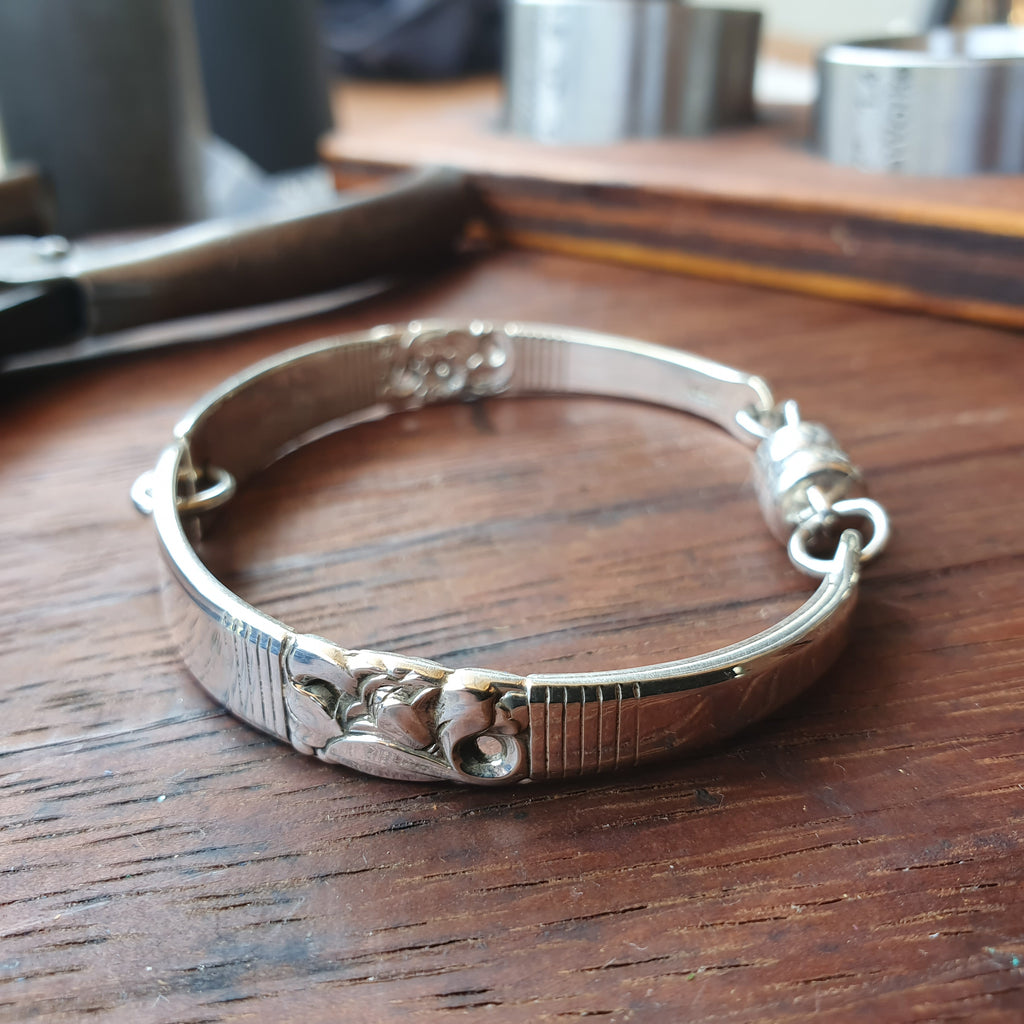 Antique Spoon Handle Bracelet 15-19