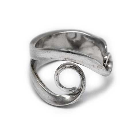 Handmade in Eumundi recycled silver fork ring