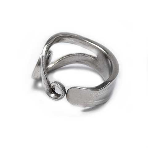 Recycled silver fork ring handmade Noosa
