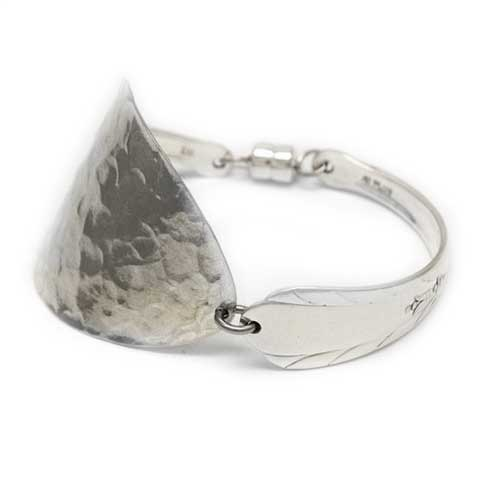 Handmade in Noosa recycled silver spoon bracelet