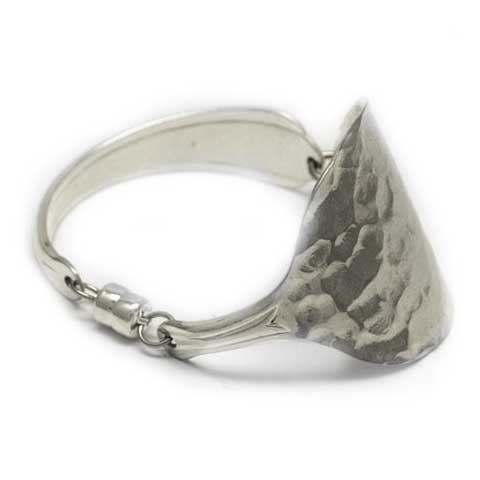 Recycled silver spoon bracelet made in Noosa