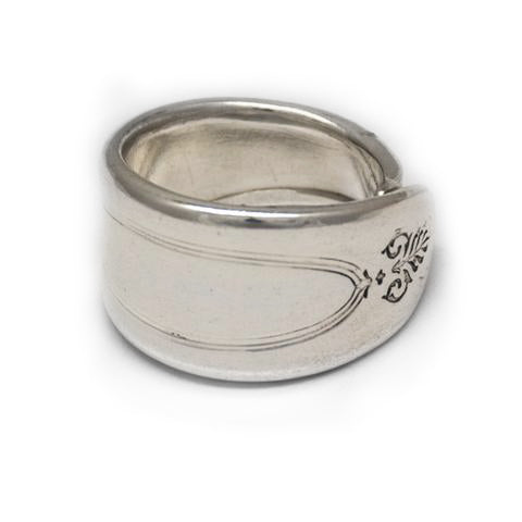 silver spoon ring handmade in Noosa