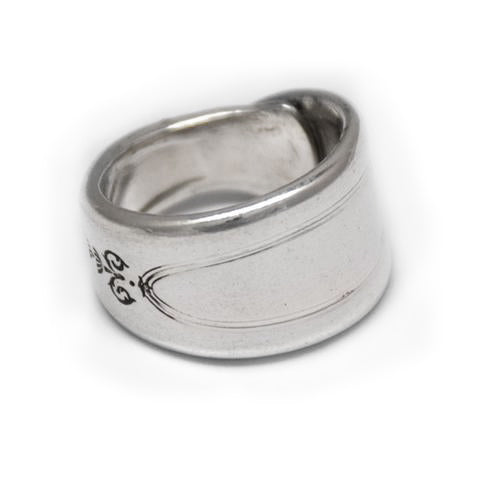 recycled silver spoon ring handmade eumundi