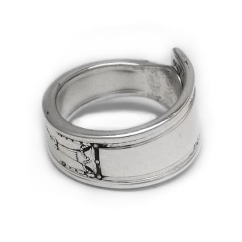 Silver spoon ring made in Eumundi