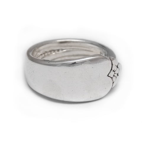 handmade silver spoon ring