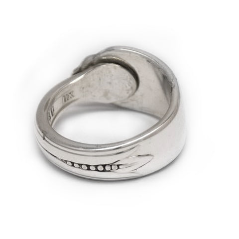 Recycled silver spoon ring made in Noosa