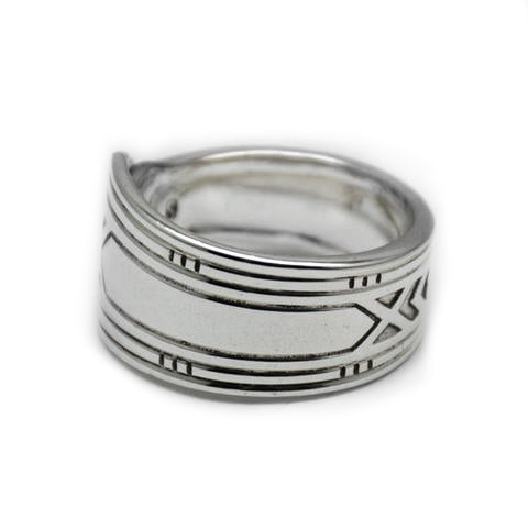 Recycled silver spoon ring