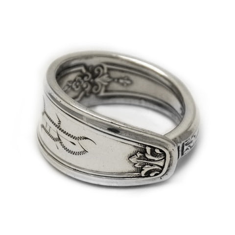 Handmade Eumundi recycled silver spoon ring