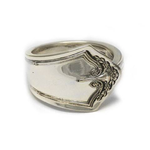 Handmade recycled silver spoon ring