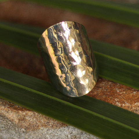 Handmade in Eumundi recycled silver spoon ring