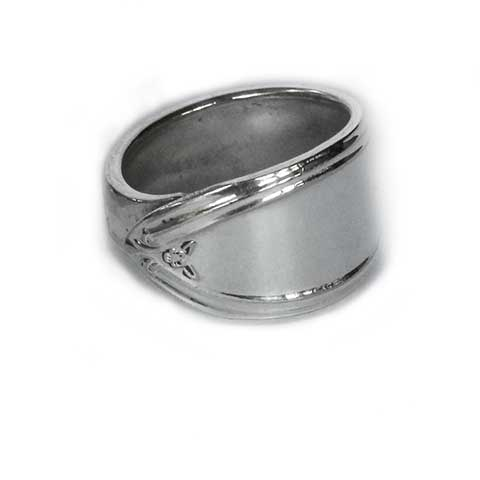 Handmade in Noosa recycled silver spoon ring