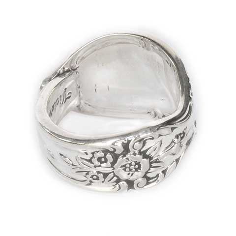 Antique Spoon Ring Floral Band