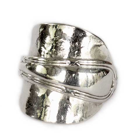 Recycled silver spoon ring made in Eumundi