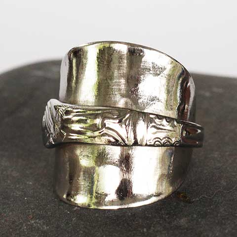 Handcrafted in Noosa recycled silver spoon ring