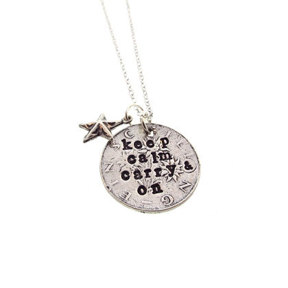 Keep Calm & Carry On Pendant - Hottie Australia