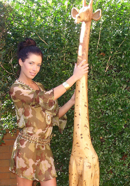 Camo Sheer Tunic - Hottie Australia  - 1